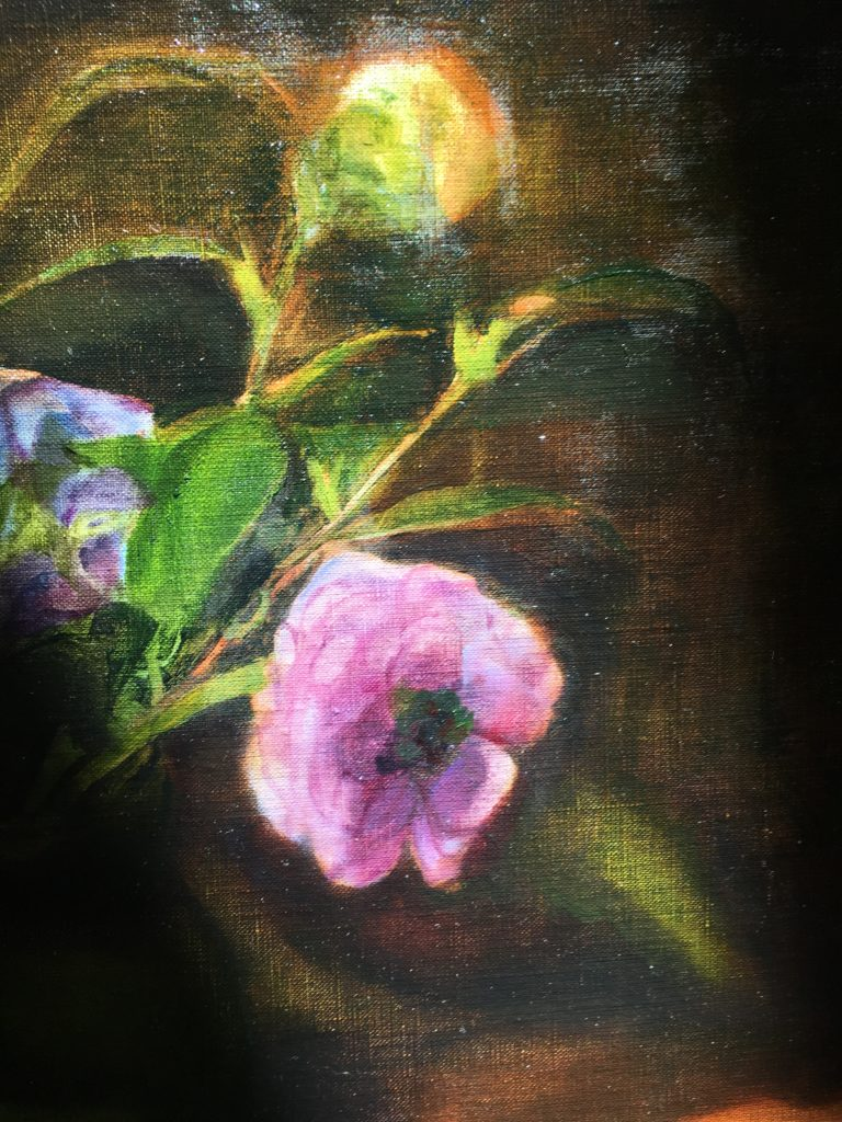 closeup of painting in sunlight