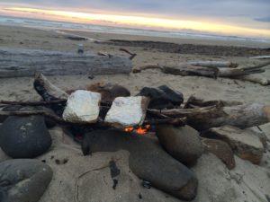 campfire Moolack Beach